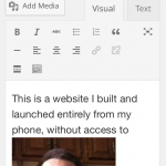Publishing Content in WordPress' Mobile UI